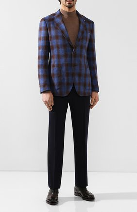 Мужской шерстяные брюки CANALI темно-синего цвета, арт. 71012/AN00019 | Фото 2