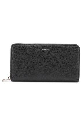 Кожаный бумажник на молнии с отделением для монет Bally темно-синего цвета   Фото №1