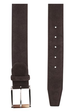 Мужской замшевый ремень  KITON темно-коричневого цвета, арт. USC22CCN00113 | Фото 2