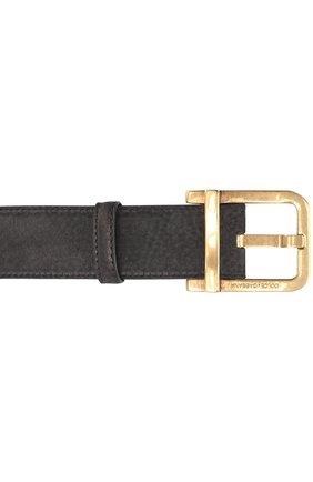 Кожаный ремень с металлической пряжкой Dolce & Gabbana черный   Фото №3