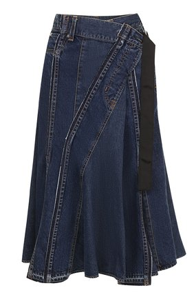 Джинсовая юбка-миди Sacai голубая | Фото №1