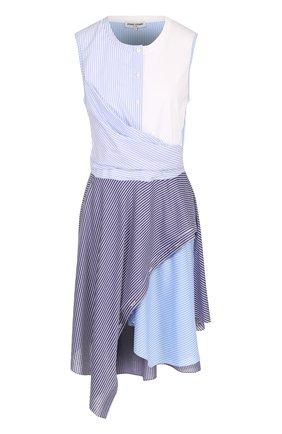 Платье асимметричного кроя с драпировкой Opening Ceremony голубое | Фото №1