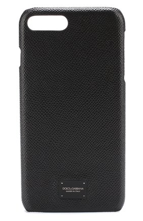 Мужской кожаный чехол для iphone 7 plus DOLCE & GABBANA черного цвета, арт. 0115/BP2264/AI359 | Фото 1