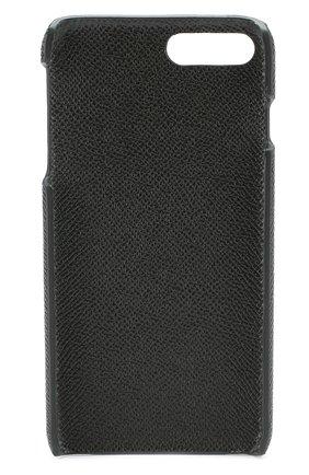 Мужской кожаный чехол для iphone 7 plus DOLCE & GABBANA темно-зеленого цвета, арт. 0115/BP2264/AI359 | Фото 2