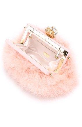 Клатч Vanda с отделкой из перьев Dolce & Gabbana розового цвета | Фото №4
