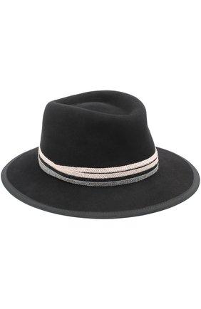 Фетровая шляпа с тесьмой | Фото №1