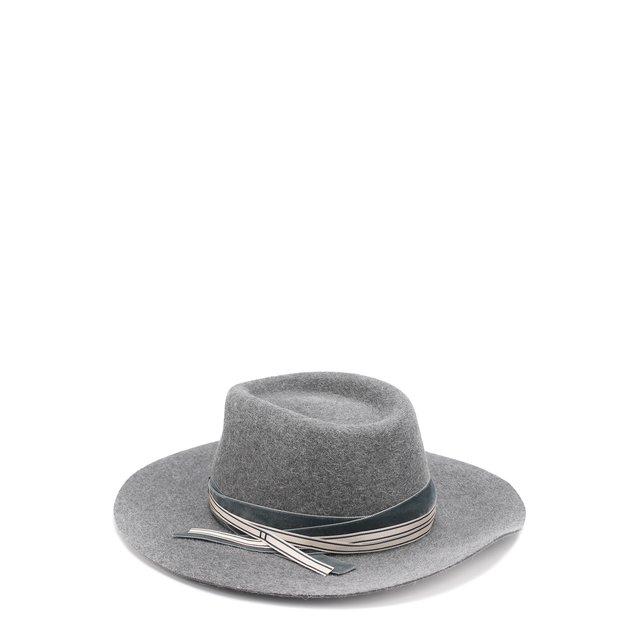 Фетровая шляпа с тесьмой Maison Michel