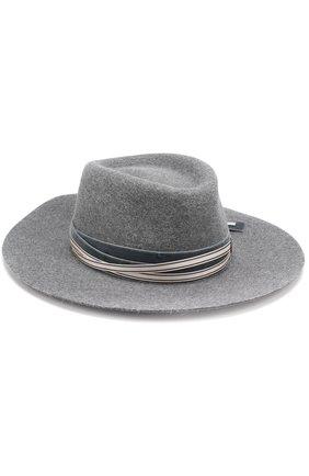 Женская фетровая шляпа с тесьмой MAISON MICHEL темно-серого цвета, арт. 1020029002/CHARLES   Фото 2