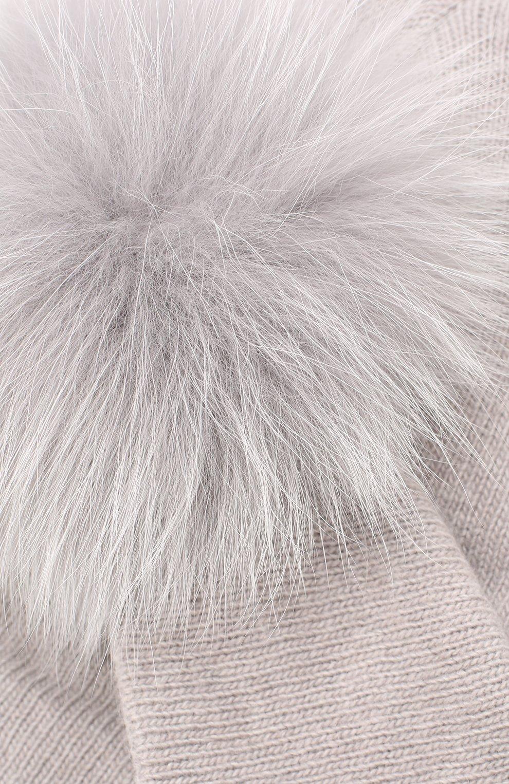 Шапка с отделкой из меха лисы | Фото №3