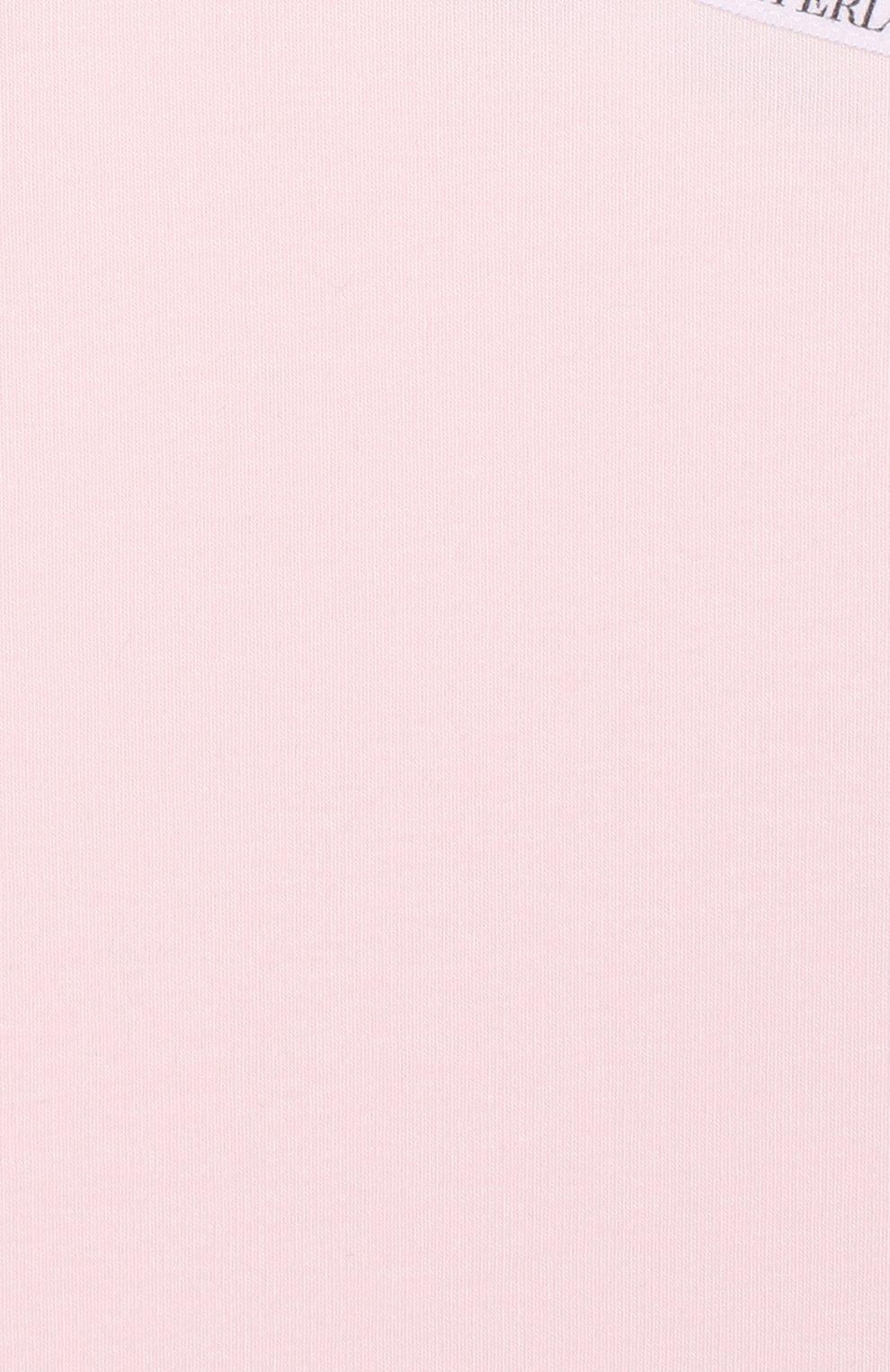 Детская майка из эластичного хлопка с логотипом бренда LA PERLA розового цвета, арт. 51315/8-14   Фото 3