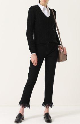 Женский пуловер из шерсти и кашемира POLO RALPH LAUREN черного цвета, арт. 211508656   Фото 2 (Материал внешний: Шерсть; Длина (для топов): Стандартные; Женское Кросс-КТ: Пуловер-одежда; Рукава: Длинные; Статус проверки: Проверено, Проверена категория)