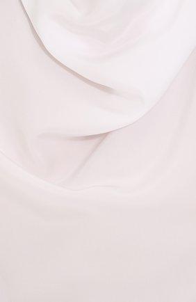 Женская шелковая блуза с драпировкой KITON белого цвета, арт. D40434K03337   Фото 5