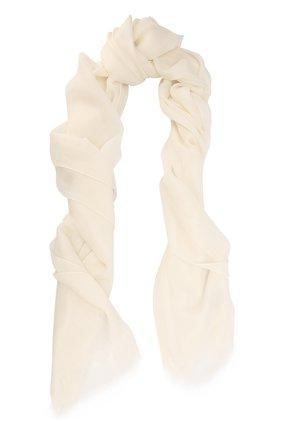 Женский платок из смеси кашемира и шелка COLOMBO белого цвета, арт. S90/70X200/2501-U | Фото 1