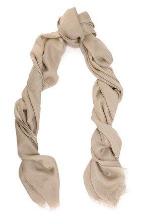 Женский платок из смеси кашемира и шелка COLOMBO бежевого цвета, арт. S90/70X200/2501-U | Фото 1