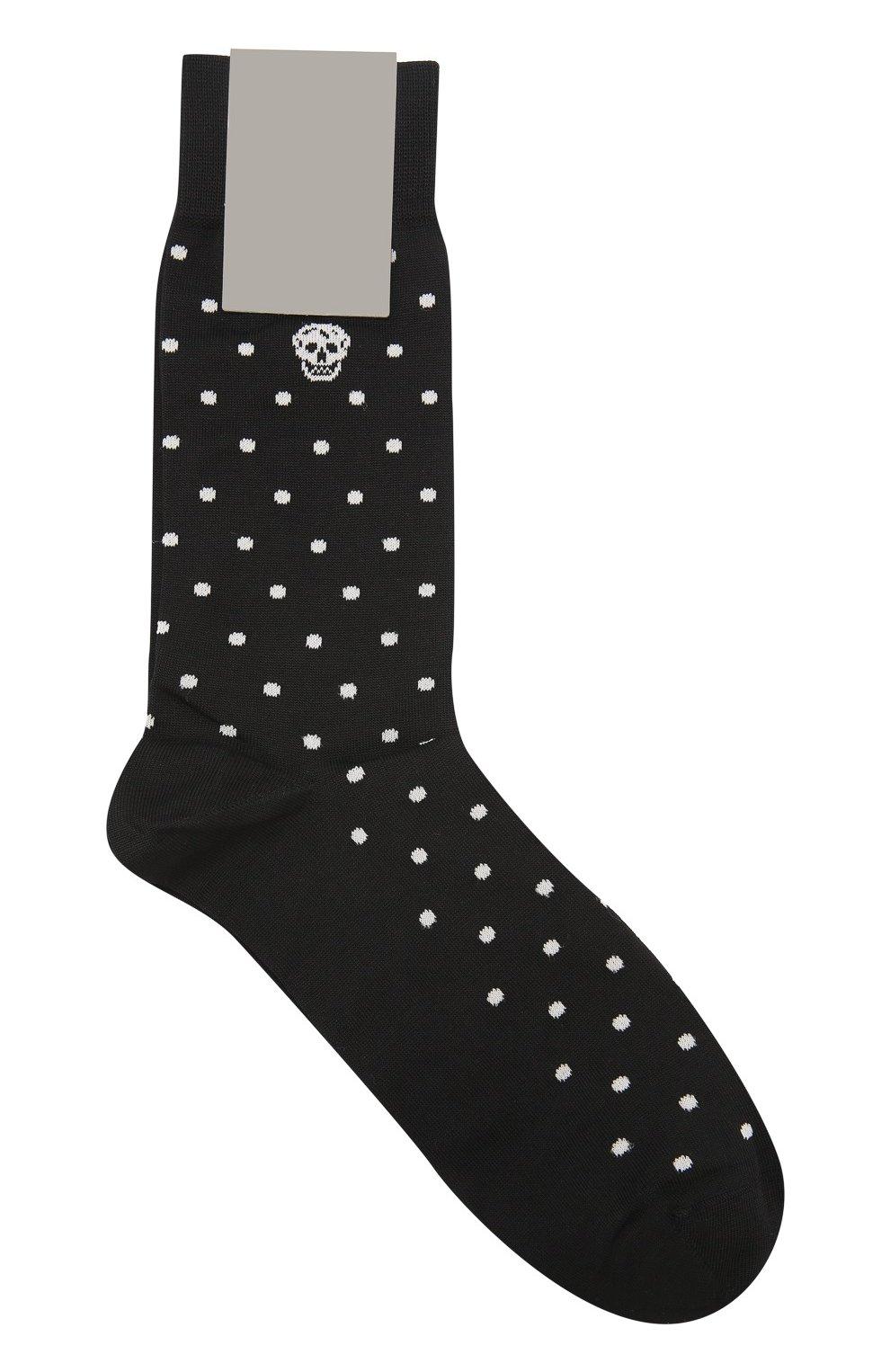Хлопковые носки с узором Polka Dot   Фото №1
