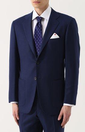 Мужской кашемировый костюм с пиджаком на двух пуговицах KITON темно-синего цвета, арт. UA81K01P45 | Фото 2