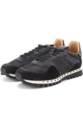 Комбинированные кроссовки Valentino Garavani Rockrunner с камуфляжным принтом