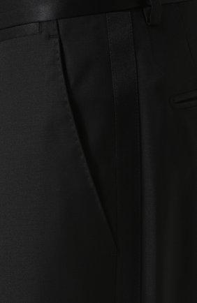 Шерстяной смокинг-тройка с шелковыми лацканами Dolce & Gabbana черный | Фото №8