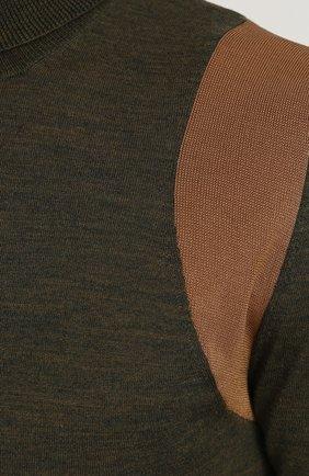 Водолазка из смеси шерсти и вискозы | Фото №5