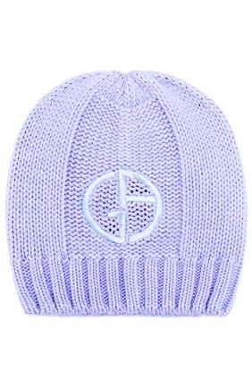 Вязаная шапка с логотипом бренда | Фото №1