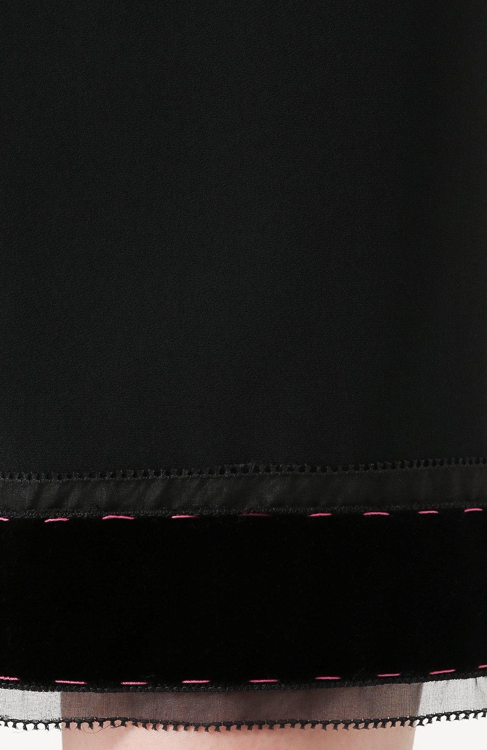 Юбка-миди с широким эластичным поясом Dolce & Gabbana черная | Фото №5