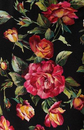Юбка-карандаш с разрезом и цветочным принтом Dolce & Gabbana разноцветная | Фото №5