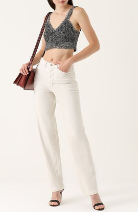 Широкие джинсы с завышенной талией Rachel Comey белые | Фото №1