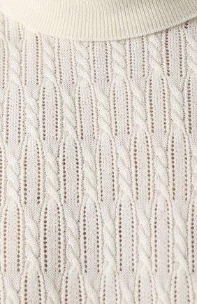 Шерстяная водолазка фактурной вязки   Фото №5