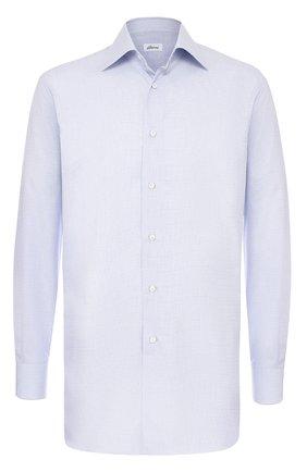 Мужская классическая сорочка из смеси хлопка и шелка BRIONI светло-сиреневого цвета, арт. RCL9/0602P | Фото 1