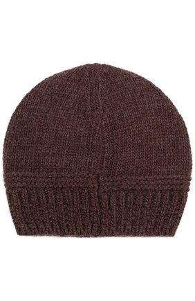 Мужская шерстяная вязаная шапка GIORGIO ARMANI темно-коричневого цвета, арт. 747304/7A511 | Фото 2