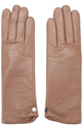 Кожаные перчатки с подкладкой из шерсти Agnelle темно-бежевые | Фото №1