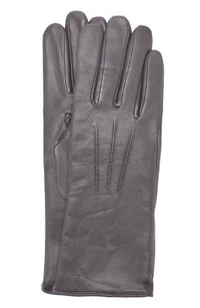 Женские кожаные перчатки с подкладкой из шерсти AGNELLE темно-серого цвета, арт. GRACE/A | Фото 1