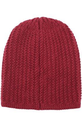 Вязаная шапка из шерсти Artiminesi бордового цвета | Фото №2
