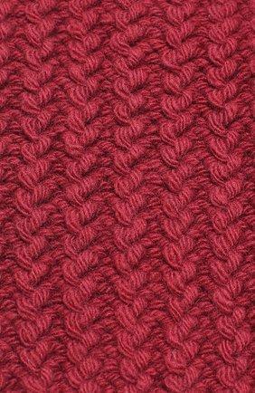 Вязаная шапка из шерсти Artiminesi бордового цвета | Фото №3