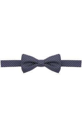 Детский шелковый галстук-бабочка с узором DAL LAGO синего цвета, арт. N301/7328 | Фото 1