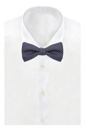 Детский шелковый галстук-бабочка с узором DAL LAGO синего цвета, арт. N301/7328 | Фото 2