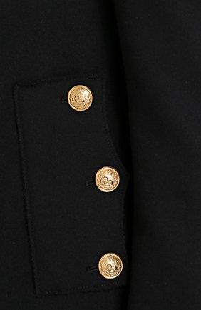 Шерстяная приталенная куртка на молнии Dolce & Gabbana черная   Фото №5