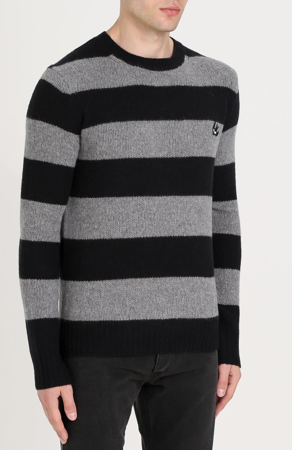 Джемпер из смеси шерсти и кашемира в контрастную полоску | Фото №3