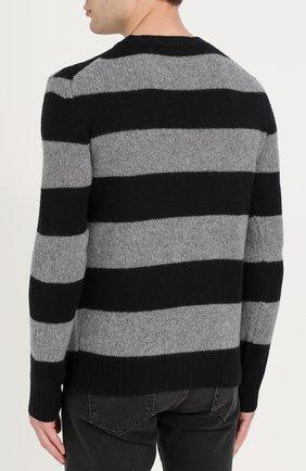 Джемпер из смеси шерсти и кашемира в контрастную полоску | Фото №4