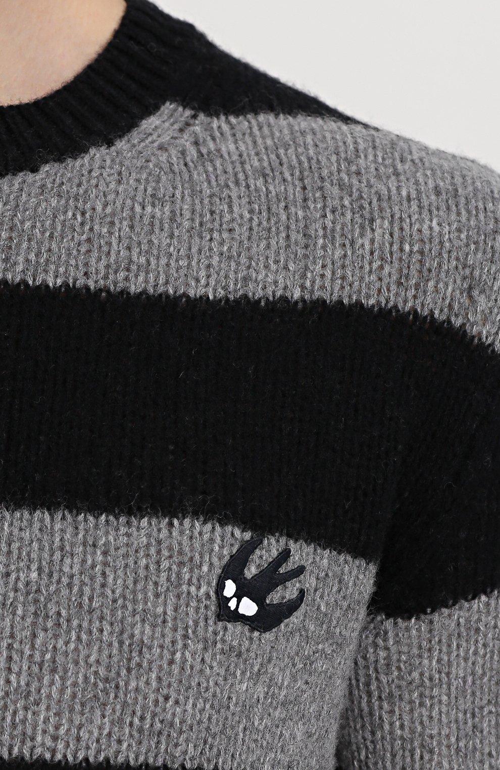 Джемпер из смеси шерсти и кашемира в контрастную полоску | Фото №5