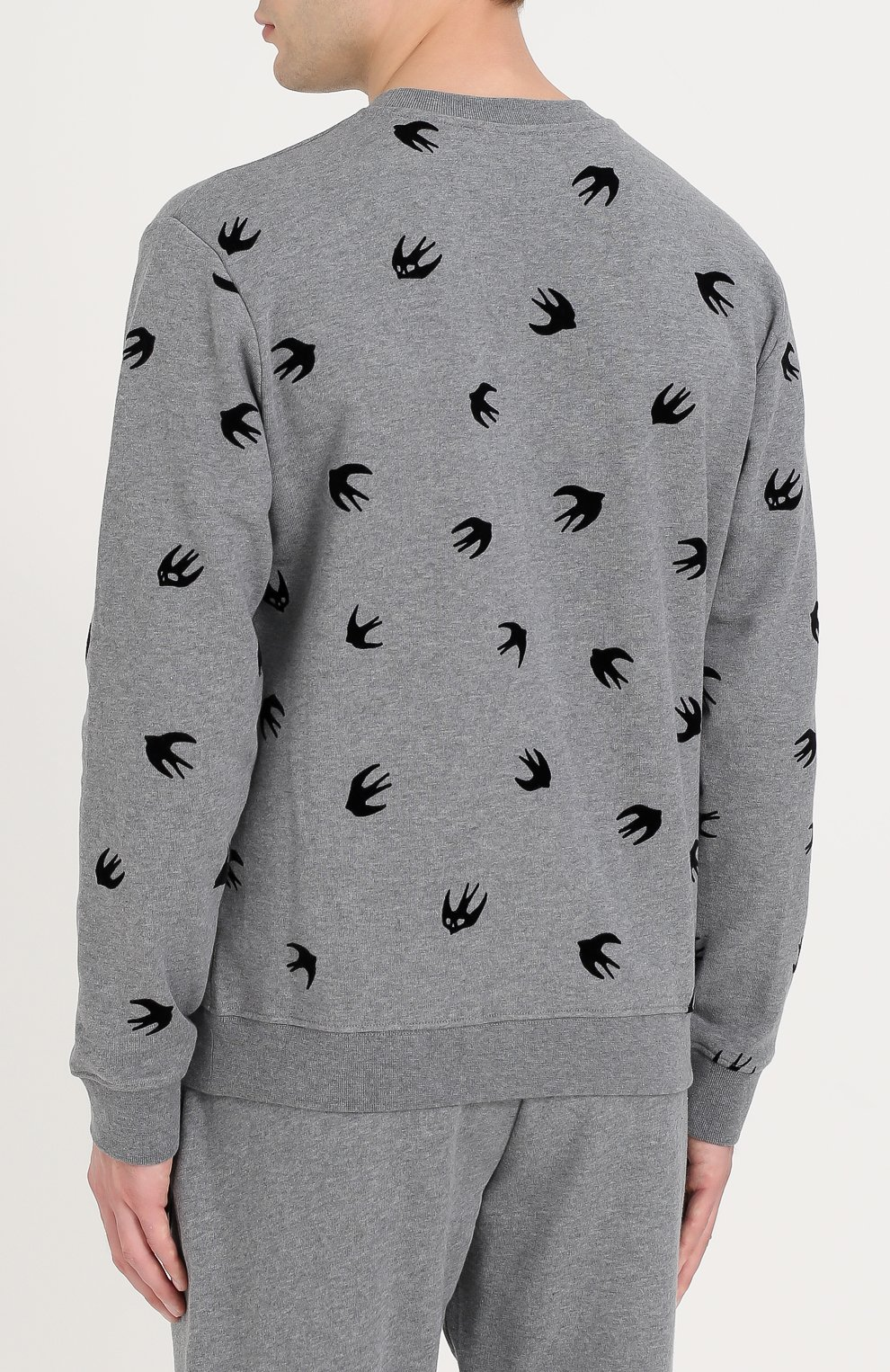 Хлопковый свитшот с контрастной отделкой | Фото №4