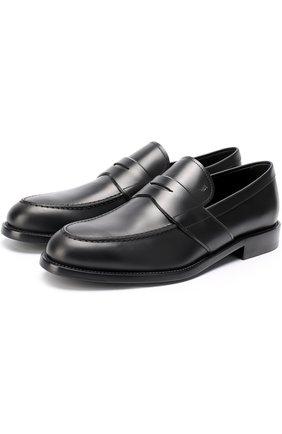 Мужские кожаные пенни-лоферы TOD'S черного цвета, арт. XXM0XR00590PLS9999 | Фото 1