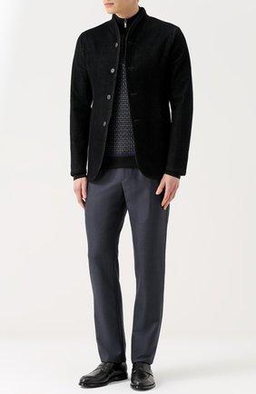 Мужские кожаные пенни-лоферы TOD'S черного цвета, арт. XXM0XR00590PLS9999 | Фото 2