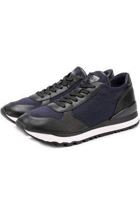 Комбинированные кроссовки Jamie на шнуровке | Фото №1