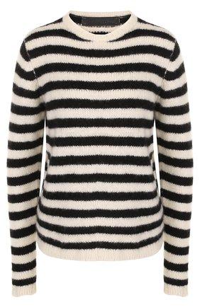 Кашемировый пуловер в полоску | Фото №1
