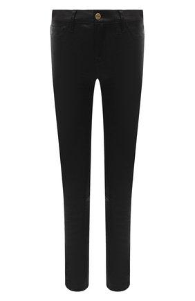 Женские кожаные брюки FRAME DENIM черного цвета, арт. LSJL001   Фото 1