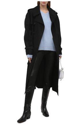 Женские кожаные брюки FRAME DENIM черного цвета, арт. LSJL001   Фото 2