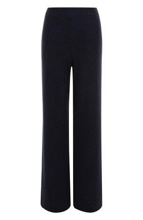 Шерстяные расклешенные брюки фактурной вязки   Фото №1