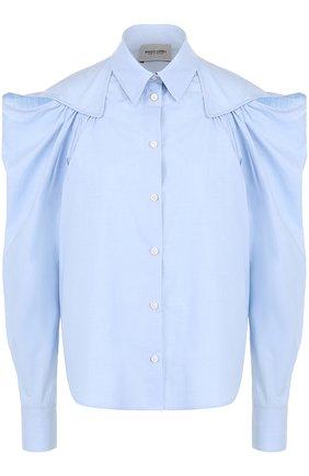 Хлопковая блуза с рукавом-фонарик | Фото №1