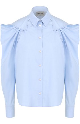 Женская хлопковая блуза с рукавом-фонарик Rachel Comey, цвет голубой, арт. 47-306 PINP0INT SHIRTING в ЦУМ | Фото №1
